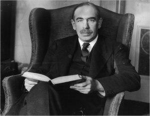 L'economista Keynes che legge un brano dal suo saggio La patana come elemento antieconomico.